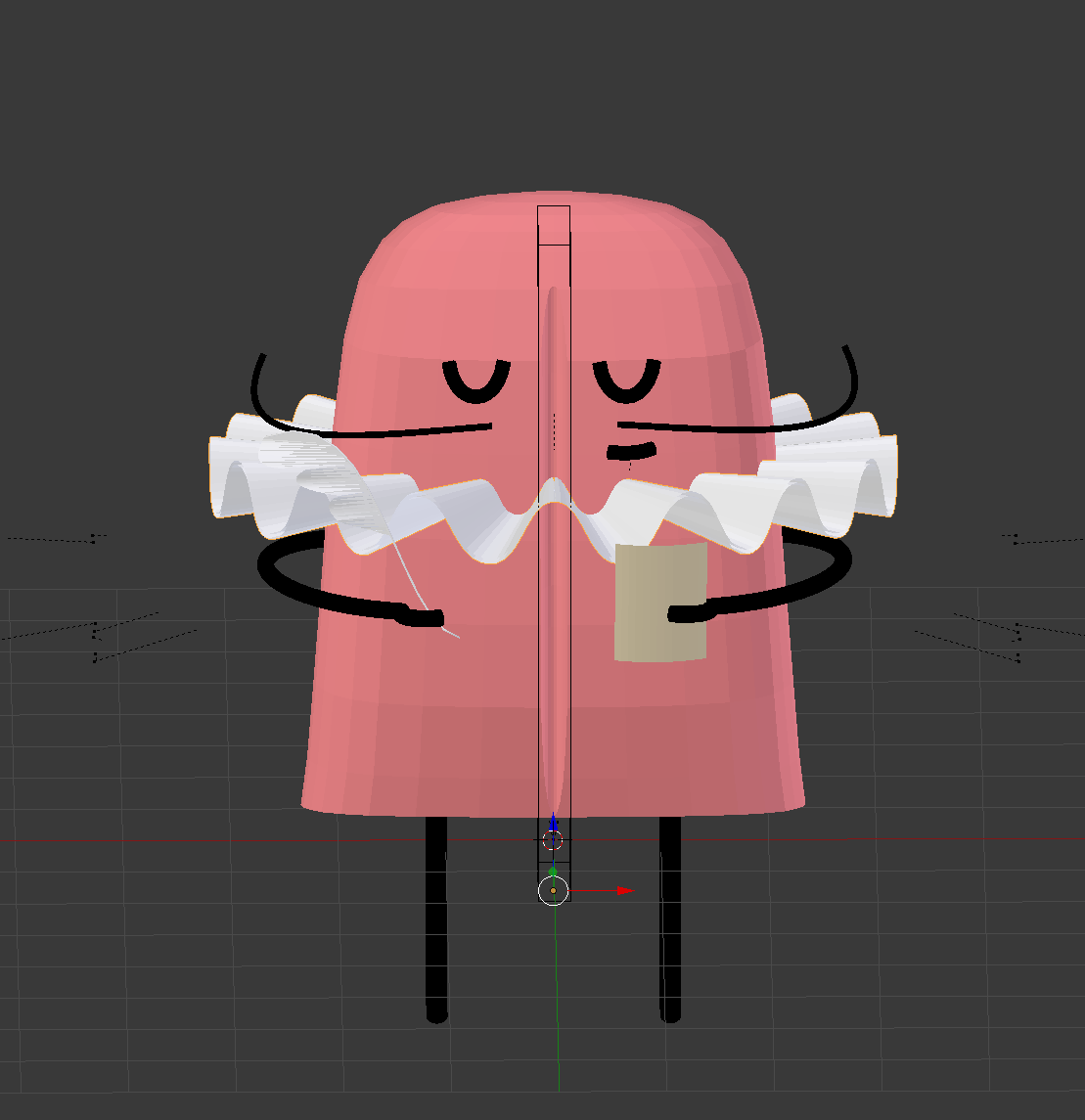 Make certain meshes invisible while importing blender to