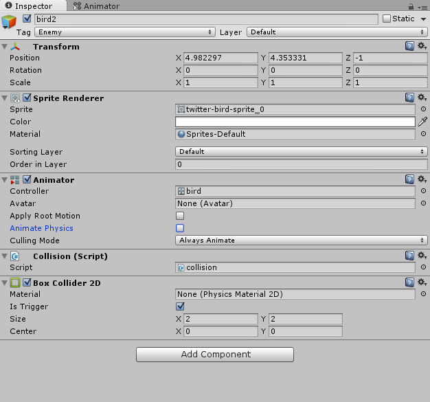why isn't my OnTriggerEnter2D() function working? - Unity