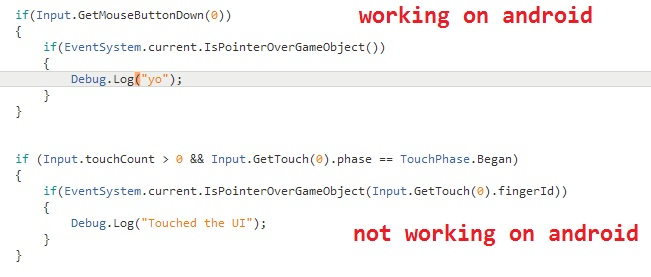 touched ui element name C# - Unity Answers