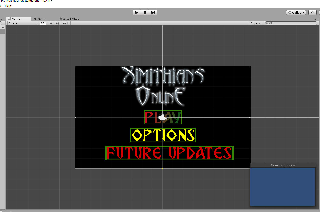 C# Unity Main Menu Scene is Blue when played - Unity Answers