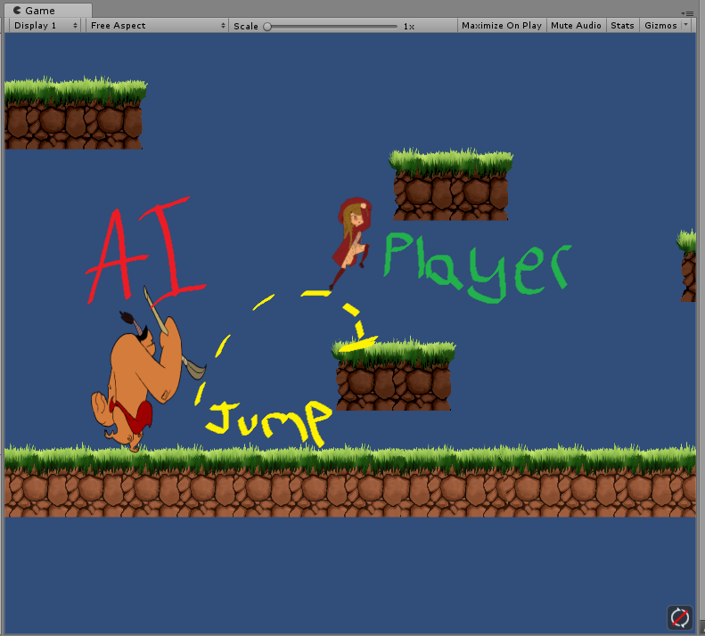 2D Sidescroller enemy AI jump help! Picture Included