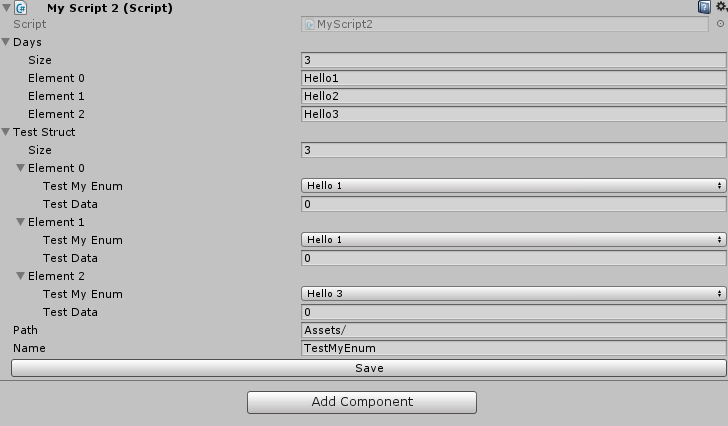 Can I add an enum value in the inspector? - Unity Answers