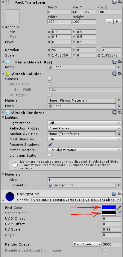 Access properties of Material through script  - Unity Answers