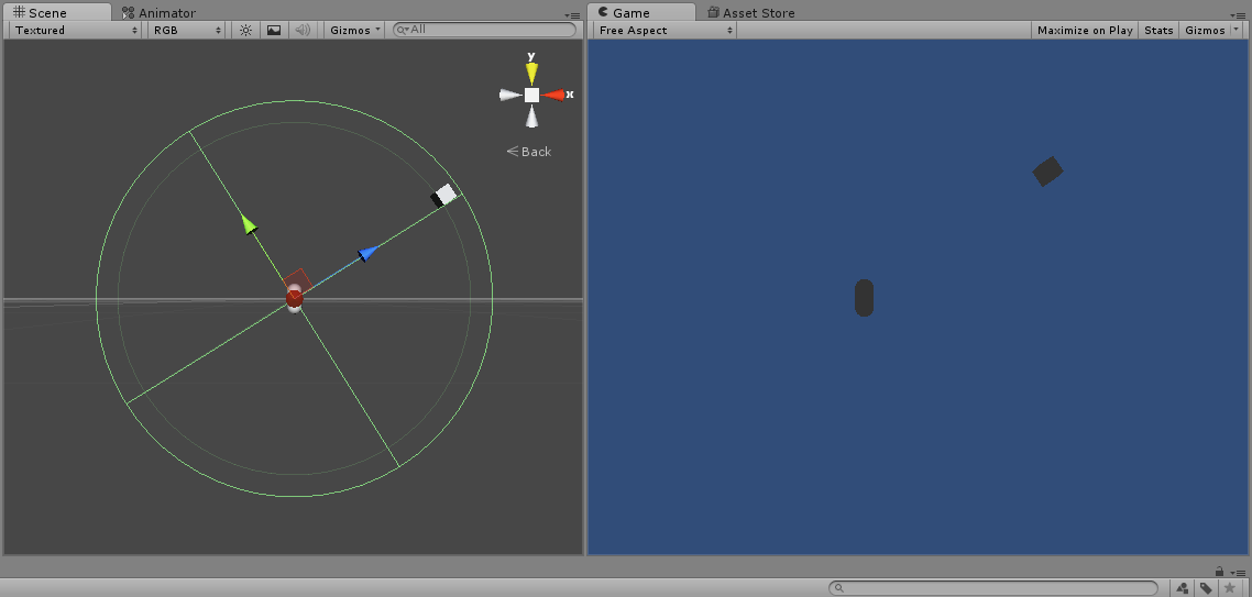 Rotate object around other object (or circle) using mouse
