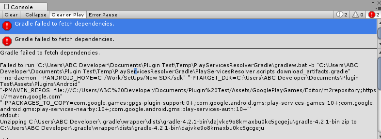 Gradle failed to fetch dependencies  (Google Play Services