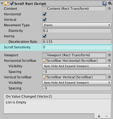 How to disable mouse wheel scroll inside a scrollview? - Unity Answers