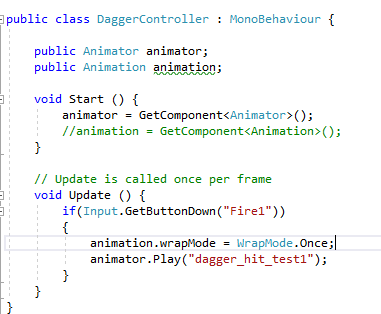 Animation keeps playing even on wrapmode once - Unity Answers
