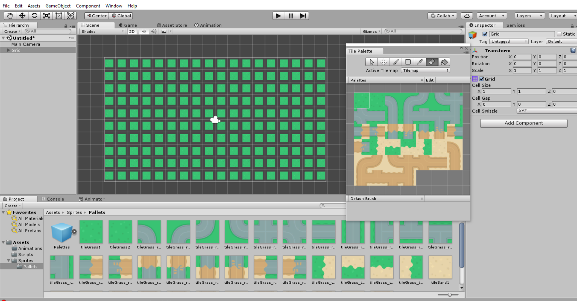 TileMap not filling in the whole space - Unity Answers