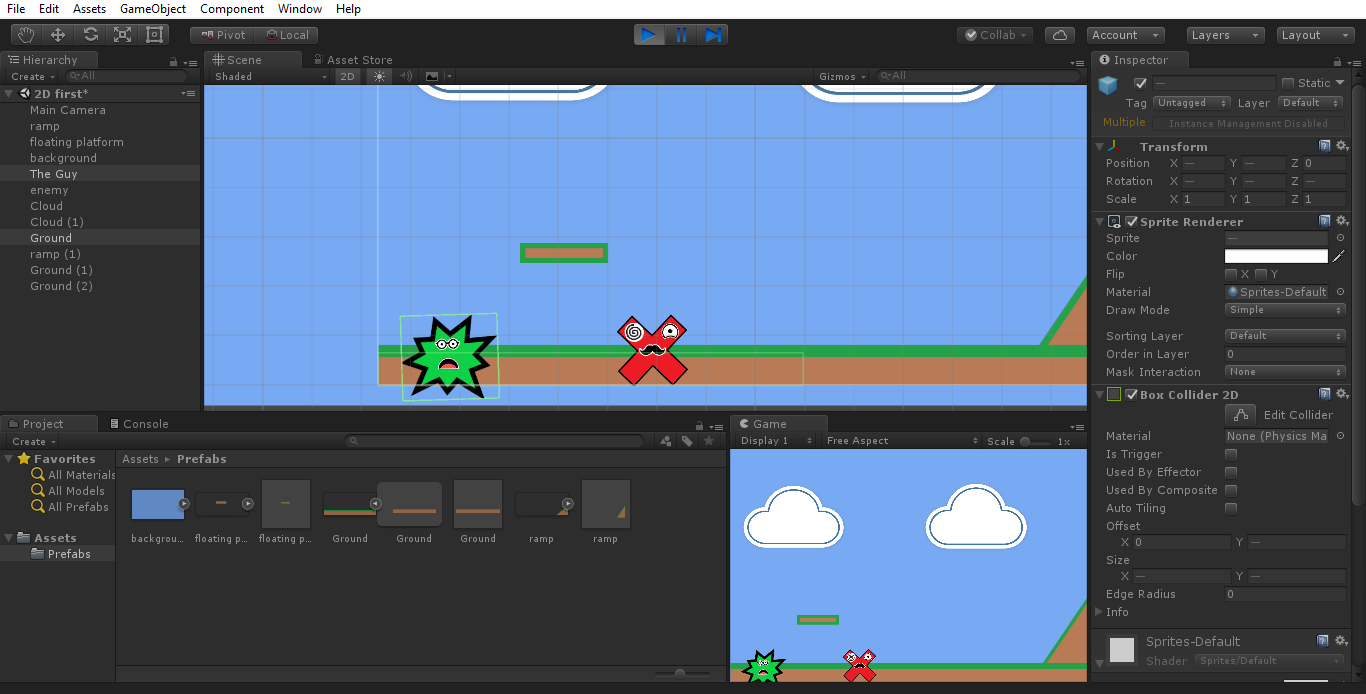 How do i fix player getting stuck in 2D platformer?,How to fix my 2d