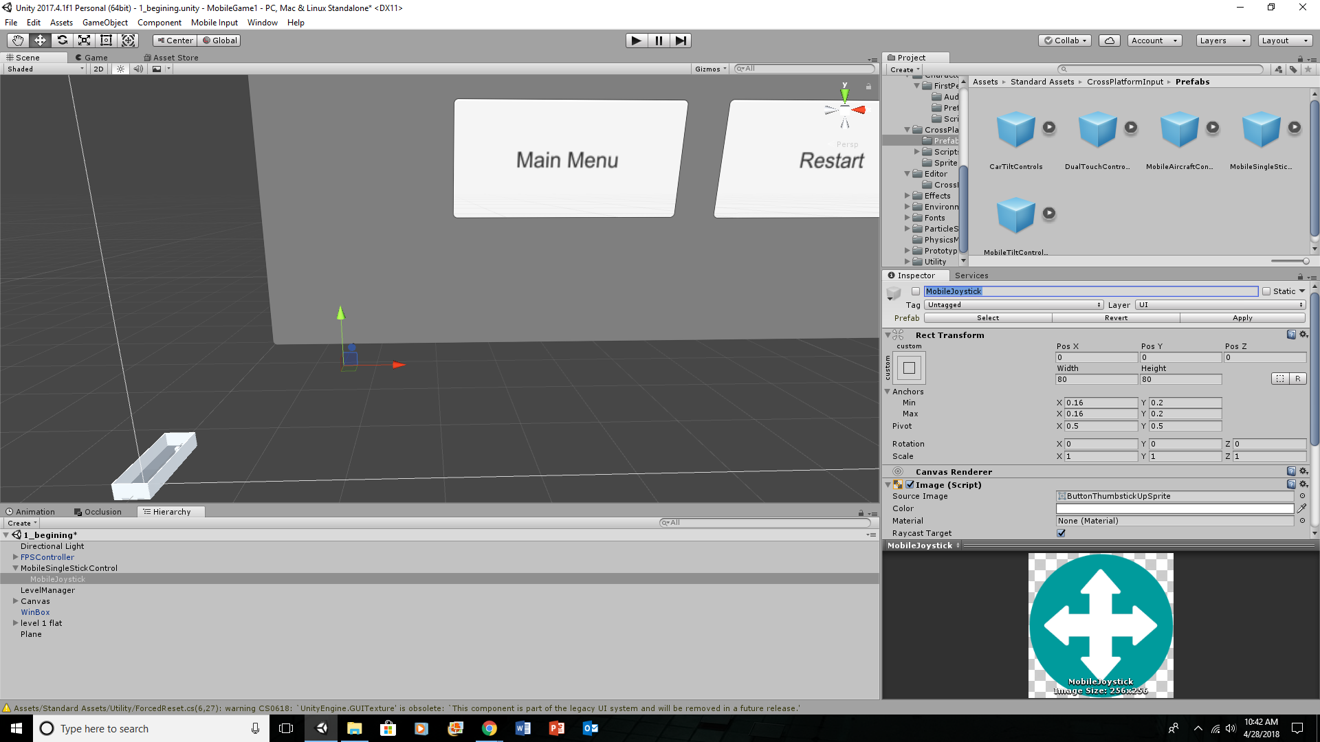 WHAT IS HAPPENING? (update issue is standard asset   maybe) - Unity