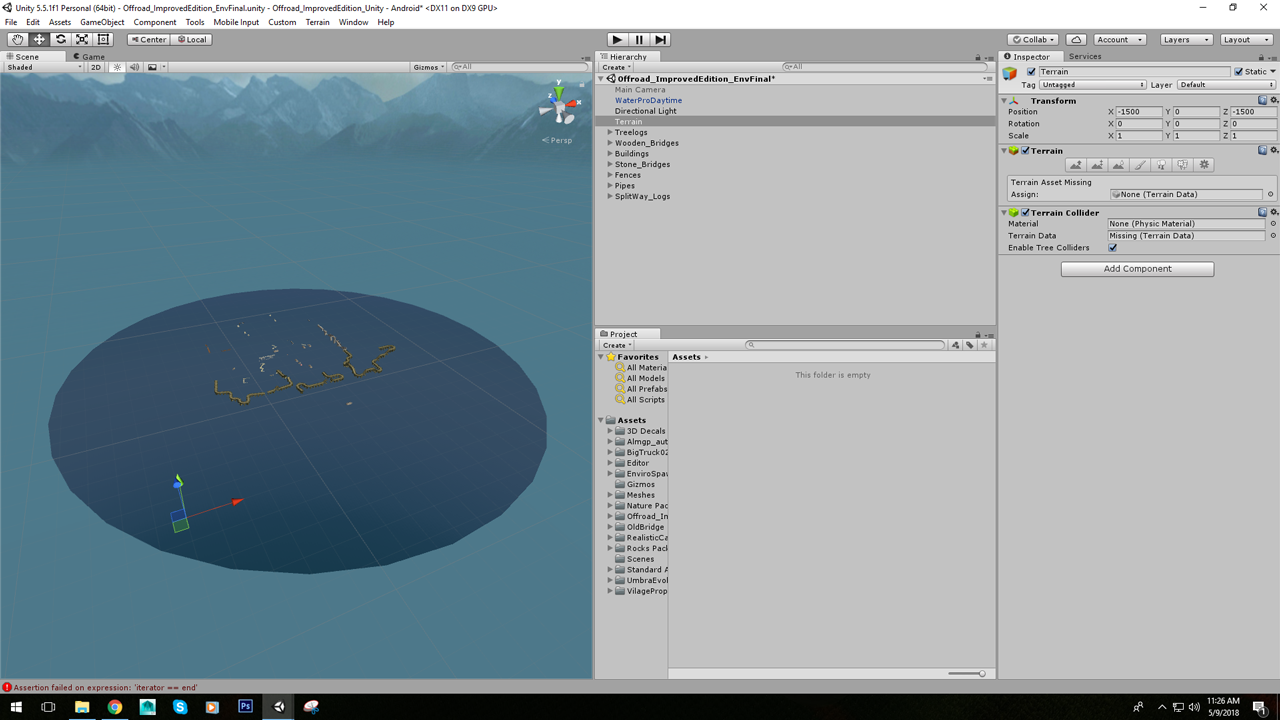 Terrain data is missing - Unity Answers