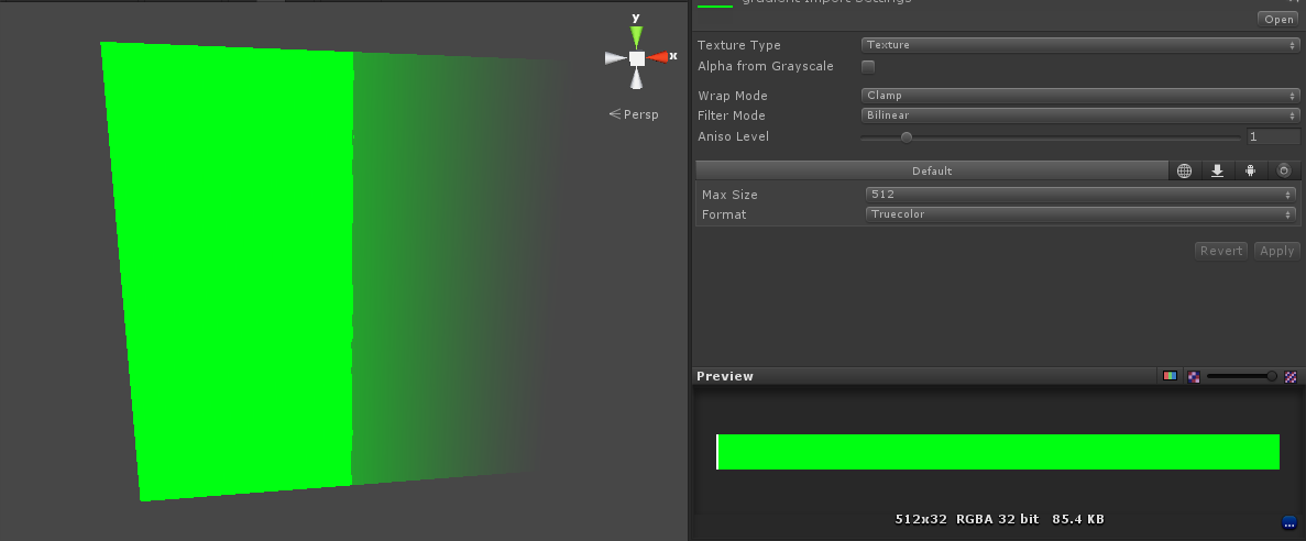 Gradient transparency results in full opacity for half of the