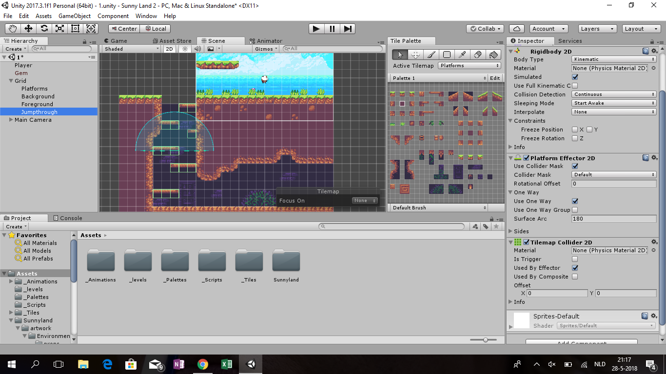 one way collider platform unity2d,One-way collision on tilemap