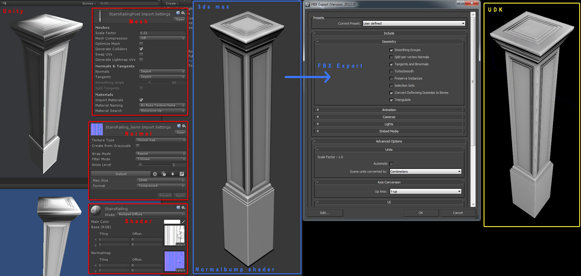 Problem importing baked normal map from 3ds max - Unity Answers