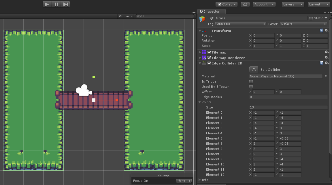 Tilemap edge-outline collider - Unity Answers