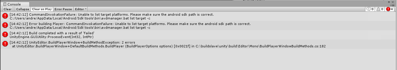 Unity Not Locating Android SDK properly? - Unity Answers