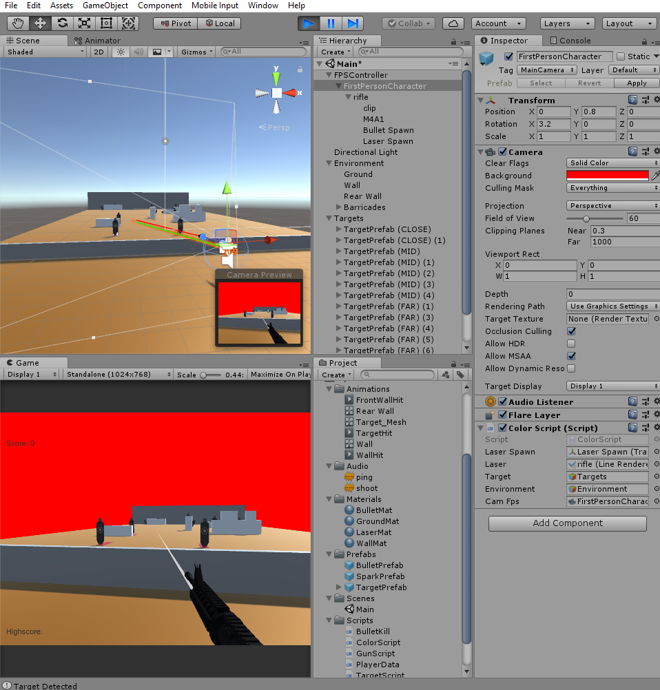 Laser detecting everything instead of target object - Unity Answers