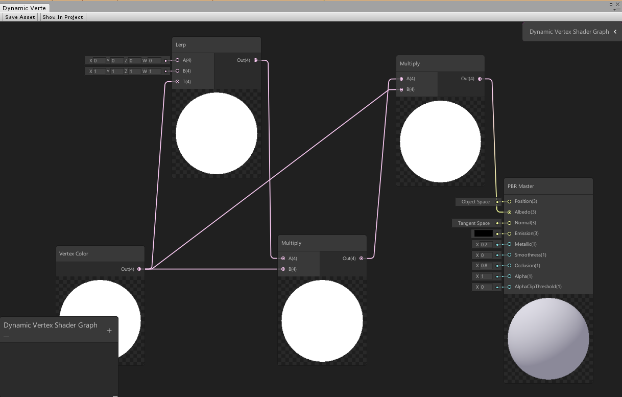 Unity Shader Graph Vertex Color