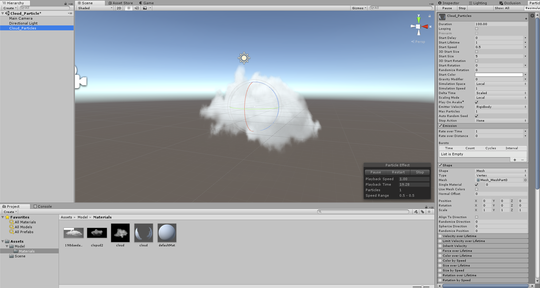 How to make a realistic static cloud model in Unity? - Unity Answers