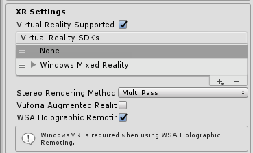 Standalone UWP Unity app for holographic remoting? [Unity