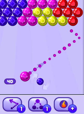 How to make physics collision dotted simulation like bubble shooter