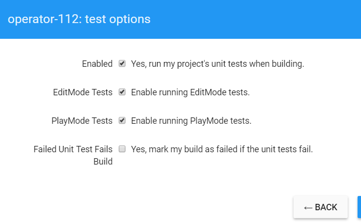 Can't run unity EditMode and PlayMode tests in cloud build