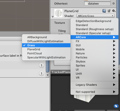 AR Core Unity unable to change the texture of the point