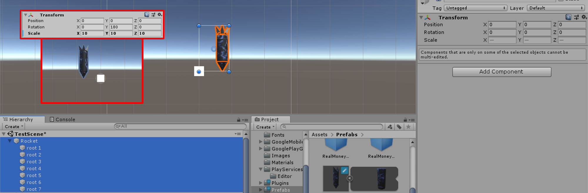 Imported 3D model is not centered - Unity Answers