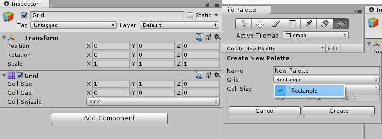 Can't create isometric tile palette or tilemap - Unity Answers