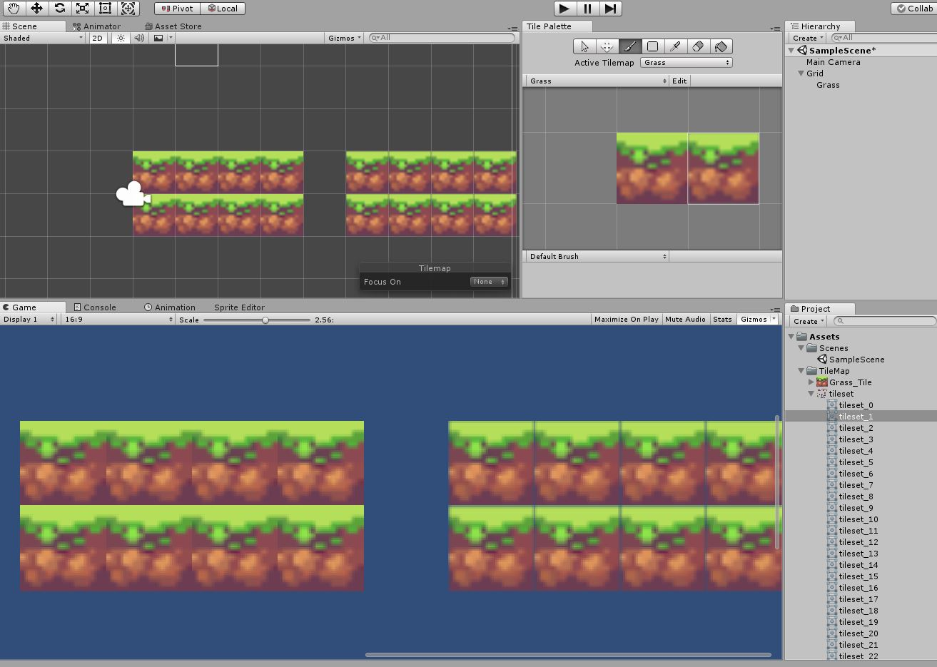16X16 Tileset sling the tilemap adds vague border to tiles?? - unity answers
