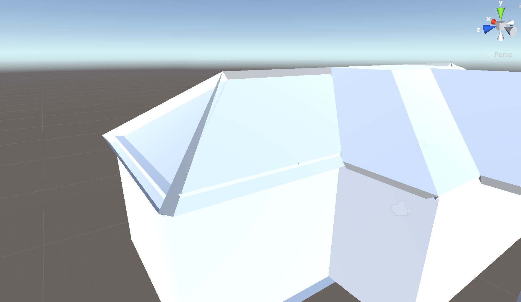 Roof outer face is missing in Unity