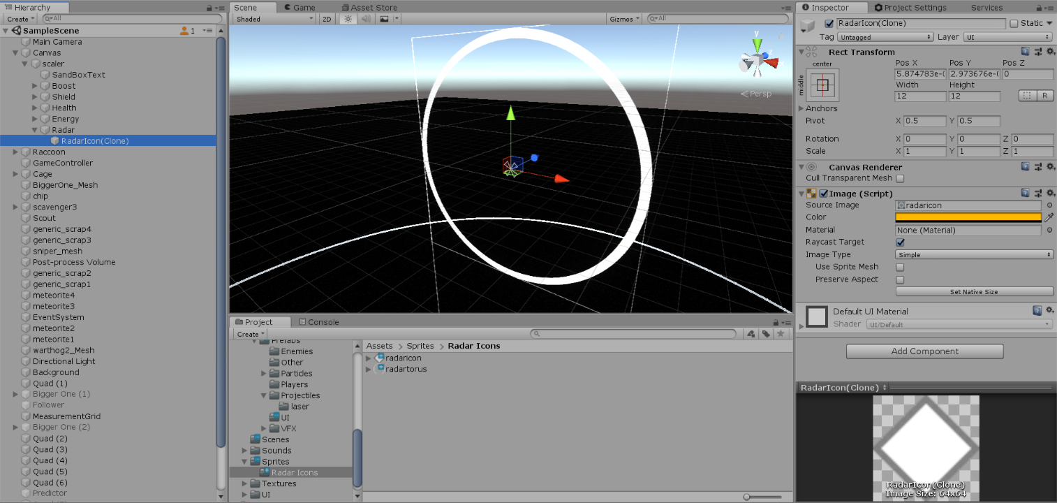 Instantiated UI prefab in canvas does not render image - Unity Answers