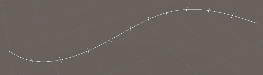 subdivided bezier curve