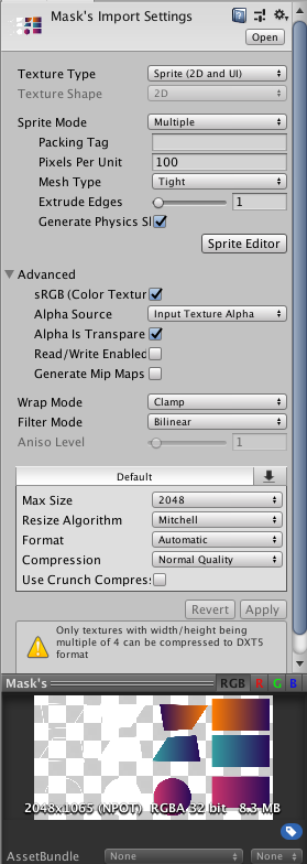 Why Sprite Editor cannot trim? - Unity Answers
