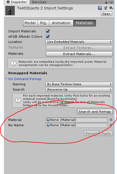 How to access empty Material slots on a ModelImporter via script