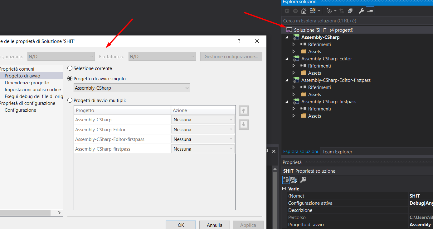 Change the  Net Framework in Visual Studio 2017 and open