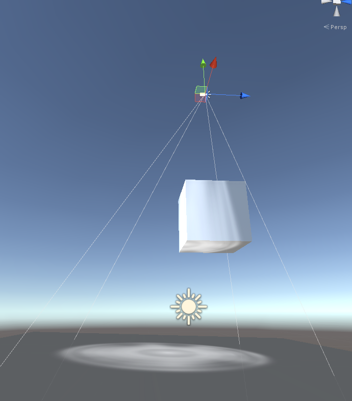 Unity projector projecting on other side of object [math