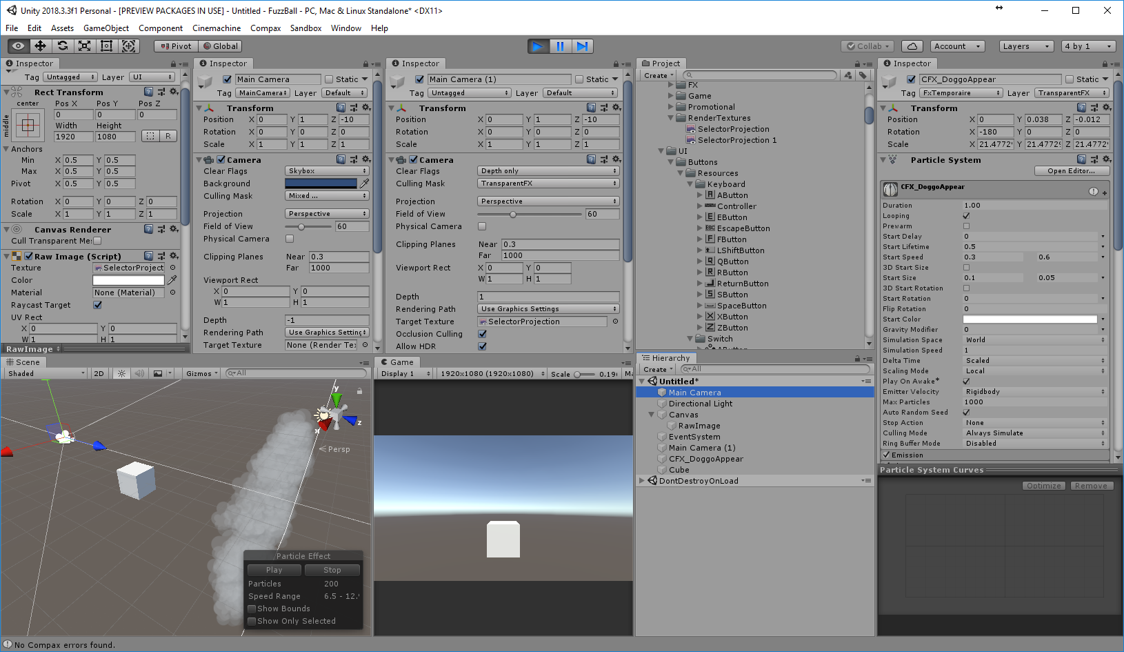 Can't display transparency via Render Texture on Raw Image - Unity