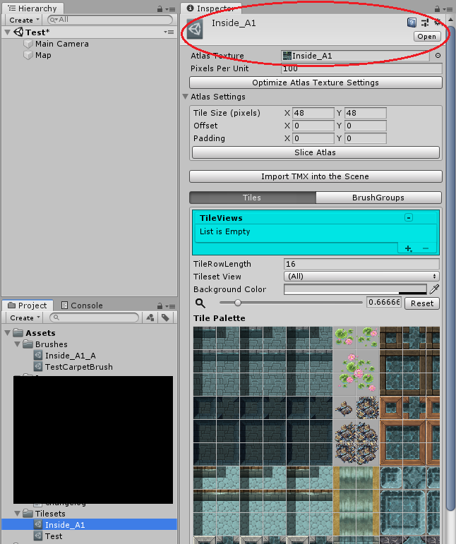Unity inspector example