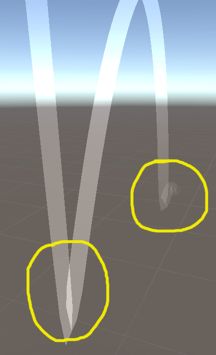 Trail Renderer Overlapping Problem