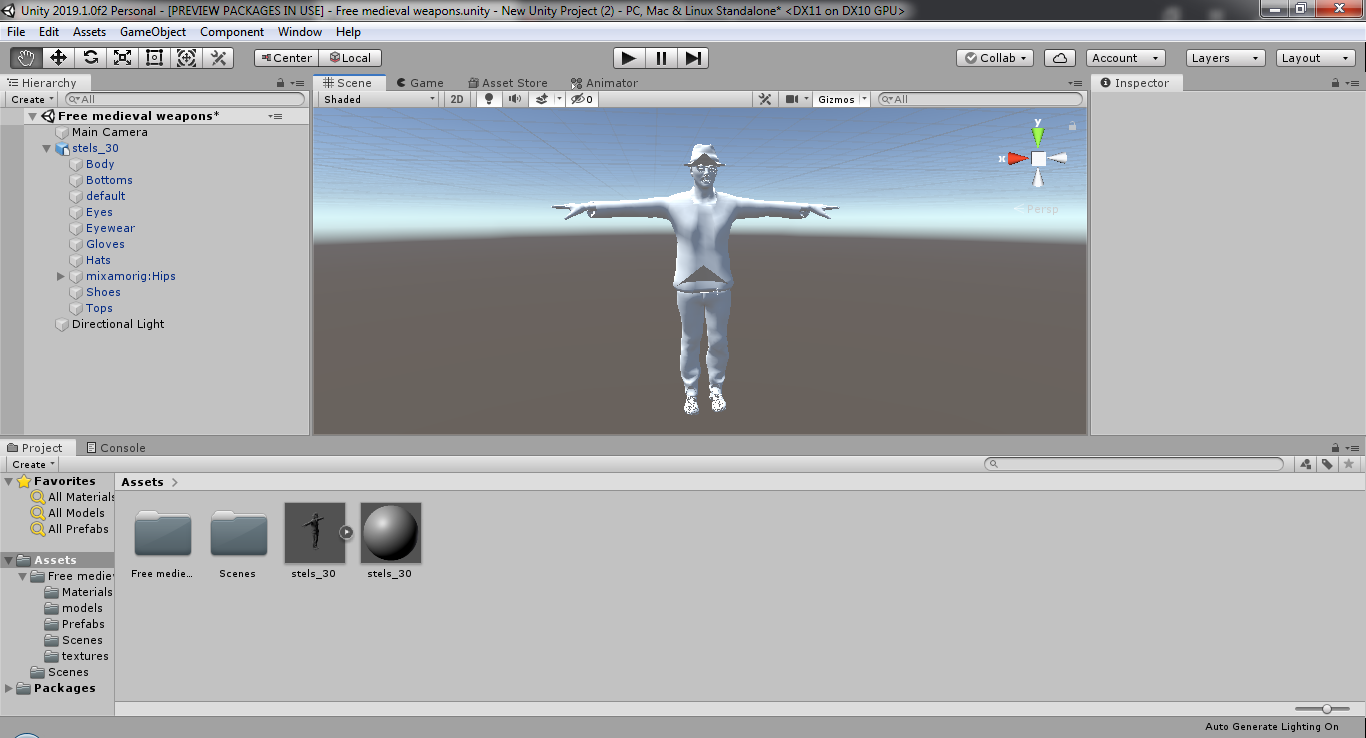 when importing a model from Mixamo, the Shader is locked and the