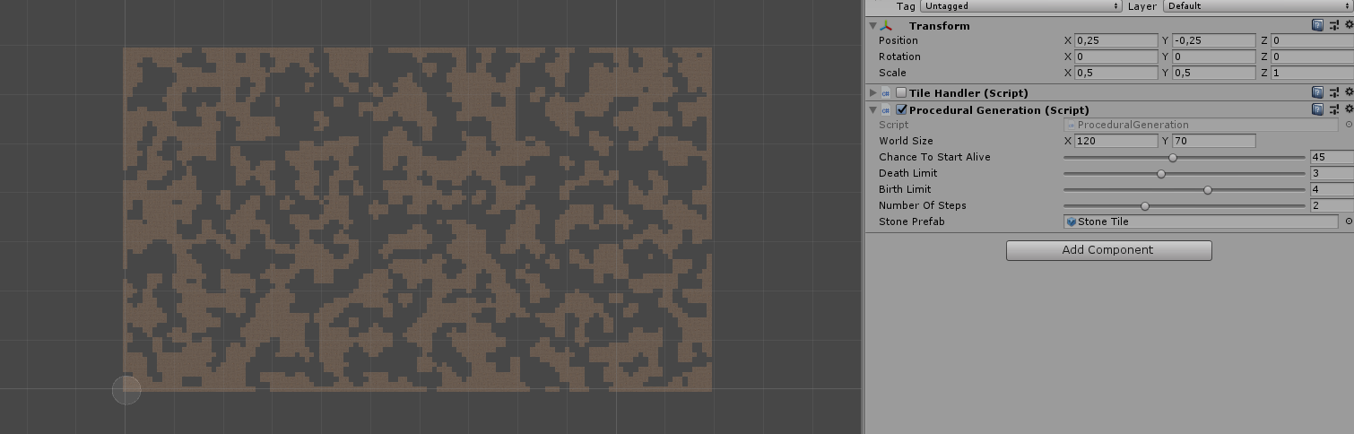 Help with procedural generation (Cellular Automata) - Unity