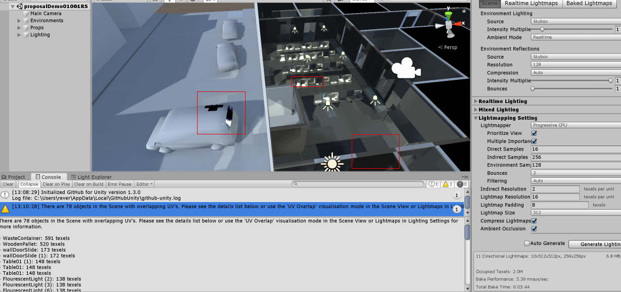 What does my Unity 2019 baked lighting have errors? - Unity