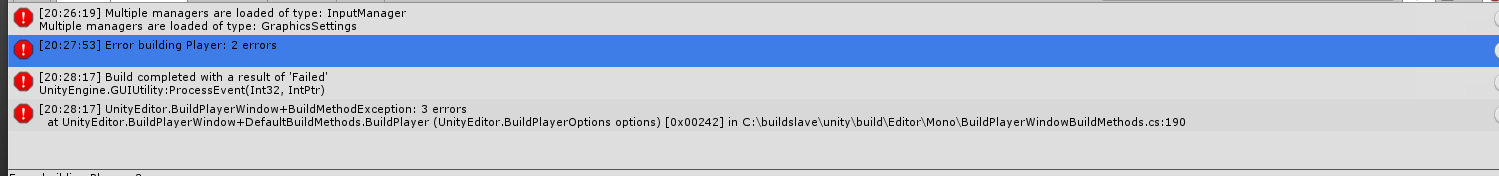Android build failed: UnityEngine GUIUtility:ProcessEvent