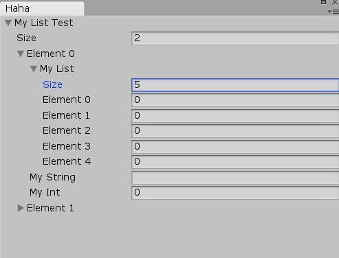 EditorGUILayout List field - Unity Answers