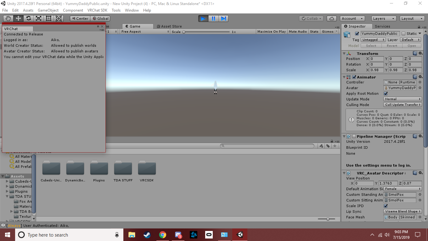 Unable to upload to vrchat - Unity Answers