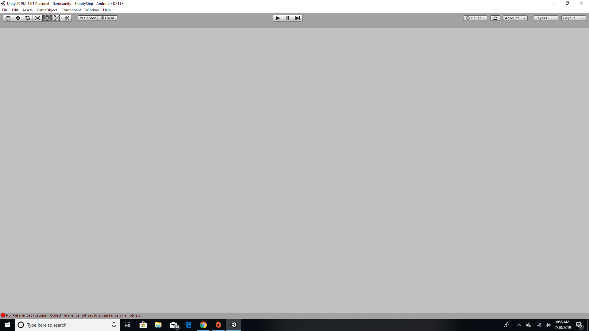 How do I fix 2019 1 opening to a blank screen? - Unity Answers