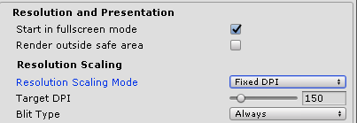 Change Resolution Scaling Mode by script (Android) - Unity