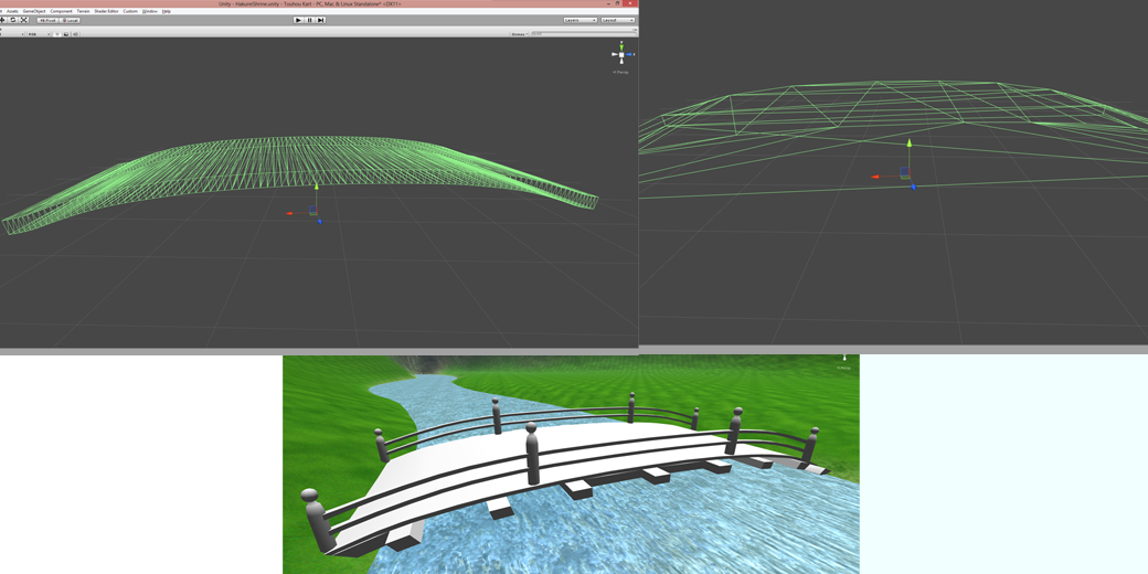 Left is the collision mesh, right is the mesh with