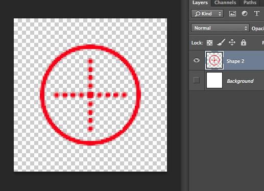 ... as your crosshair (in my case, its red), and turn the layer back on